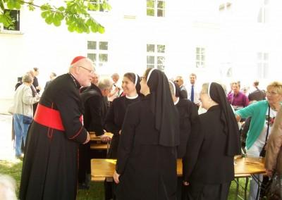 Herzliche Begegnung mit H. H. Reinhard Kardinal Marx in St. Ottilien bei der Priesterweihe von Pater Maurus