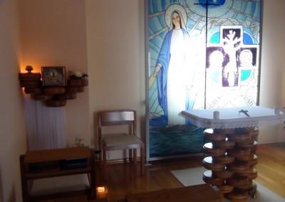 Die Kapelle im Haus der Dienerinnen Christi in Zagreb in Kroatien