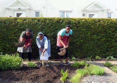 Gartenarbeit in Königsbrunn