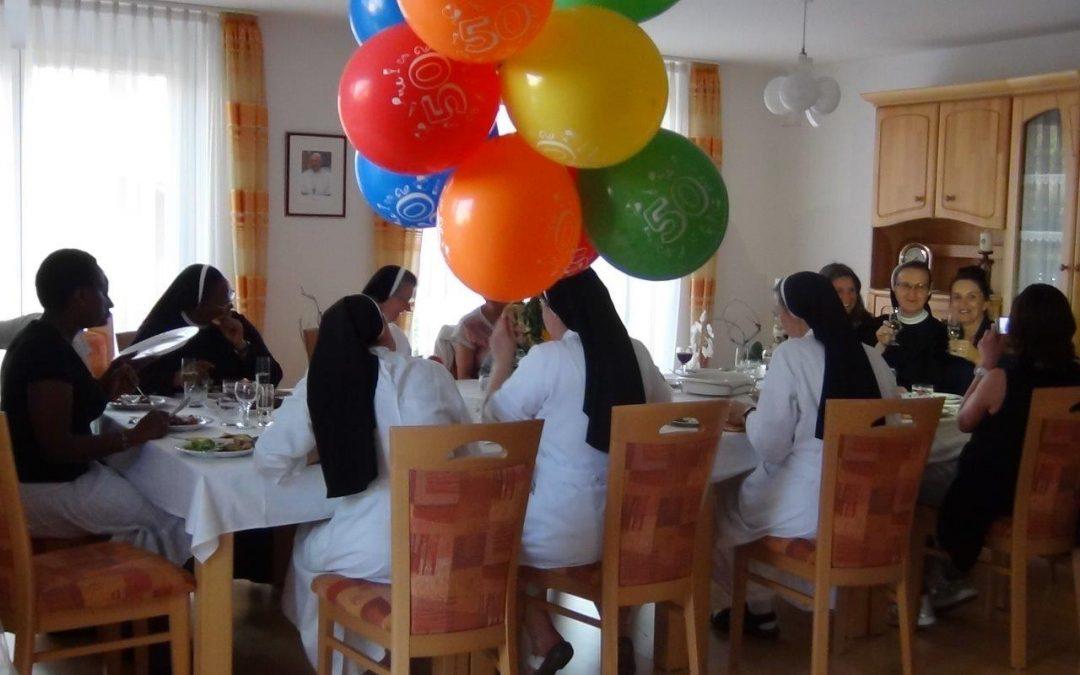 Generaloberin Sr. Agnes Šimić feierte ihren 50. Geburtstag