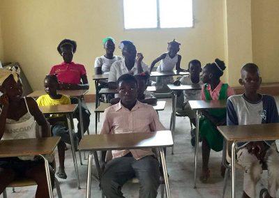 Schüler im Missionszentrum in Haiti